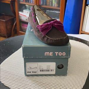 Me Too Brown Suede Eden loafer size 11